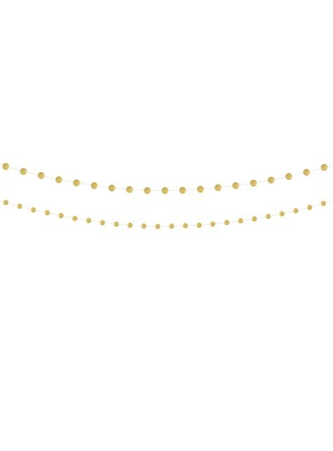 2 guirlandes avec cercles dorés