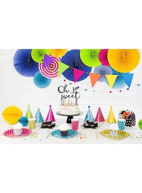 2 guirnaldas de gatitos multicolores de papel - Polka Dots Collection - para tus fiestas