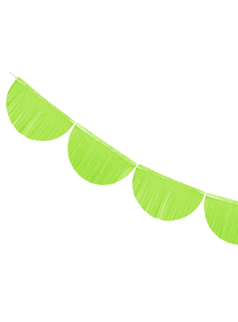 Guirnalda de semicírculos verde claro con flecos de 20 cm - para tus fiestas