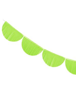 Guirnalda de semicírculos verde claro con flecos de 20 cm