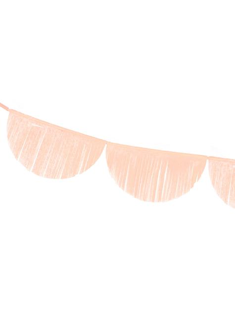 Guirnalda de semicírculos melocotón con flecos - para tus fiestas
