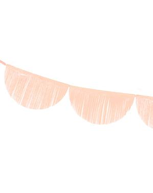 Grinalda de semicírculos pêssego com franjas