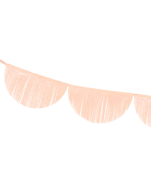 Semicircles garland with tassels in peach