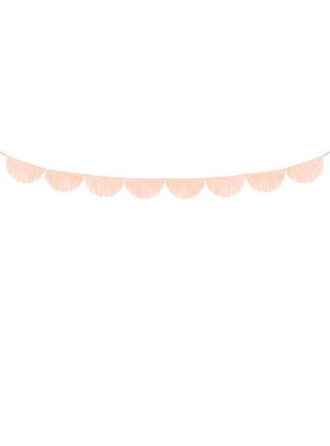 Guirnalda de semicírculos melocotón con flecos - barato