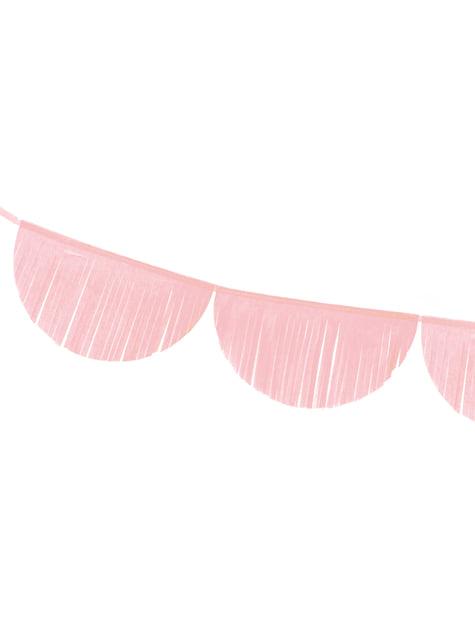 Guirnalda de semicírculos rosa claro con flecos - original
