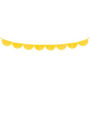 Grinalda de semicírculos amarelos com franjas