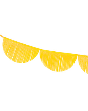 Semicircles garland with tassels in yellow