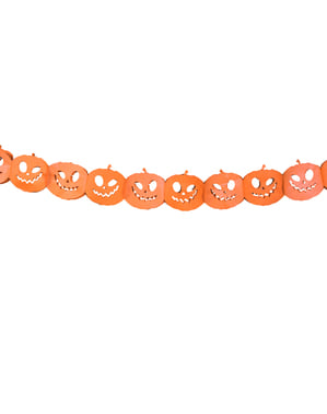 Kalung kertas labu dalam oren - Halloween