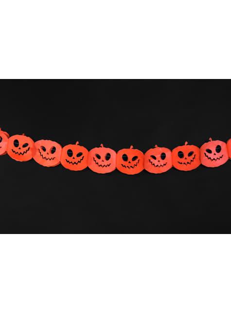 Guirnalda de calabazas naranjas de papel - Halloween - para tus fiestas