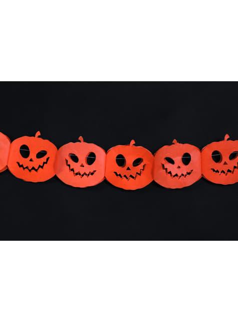 Guirnalda de calabazas naranjas de papel - Halloween - para niños y adultos