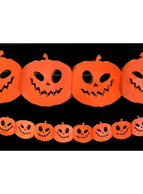 Guirnalda de calabazas naranjas de papel - Halloween - comprar