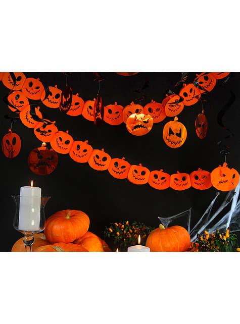 Guirnalda de calabazas naranjas de papel - Halloween - original