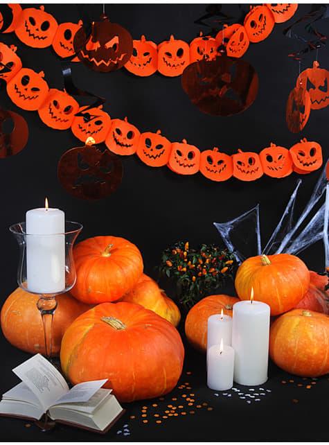 Guirnalda de calabazas naranjas de papel - Halloween - para decorar todo durante tu fiesta