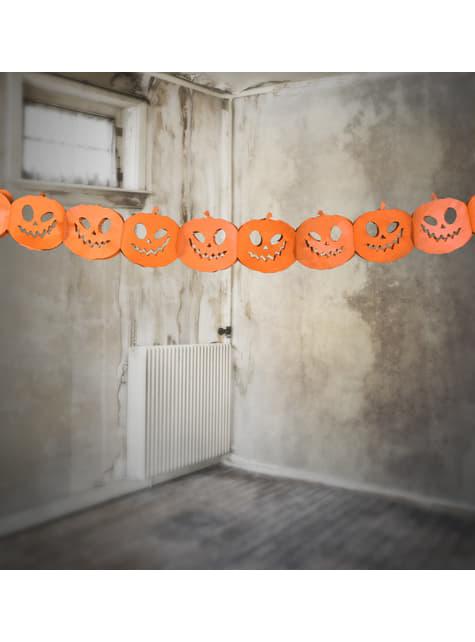 Guirnalda de calabazas naranjas de papel - Halloween - barato