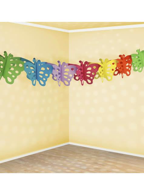 Grinalda de papel de borboletas multicolores - Polka Dots Collection