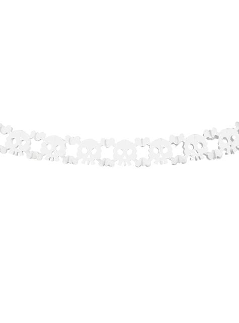 Guirnalda calaveras blancas de papel - Halloween - barato