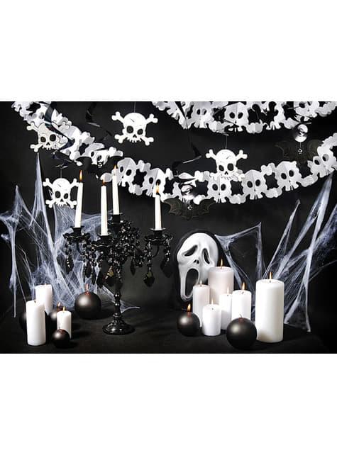 Guirnalda calaveras blancas de papel - Halloween - comprar
