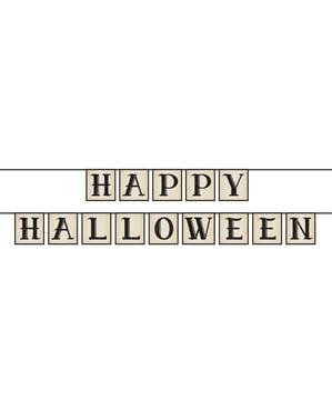 Papírová girlanda Happy Halloween