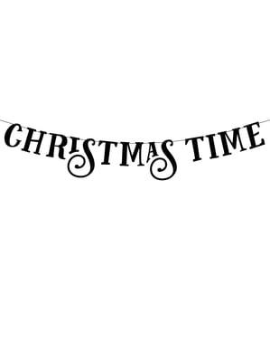 """""""Vianočný čas"""" veniec v čiernej farbe - kolekcia Scandi Christmas"""