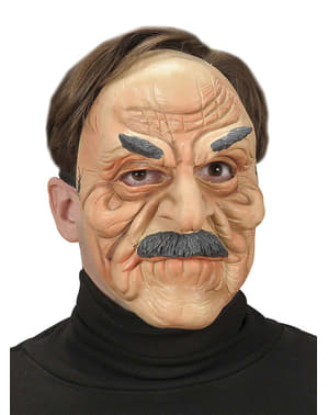 Máscara de viejo amargado para hombre