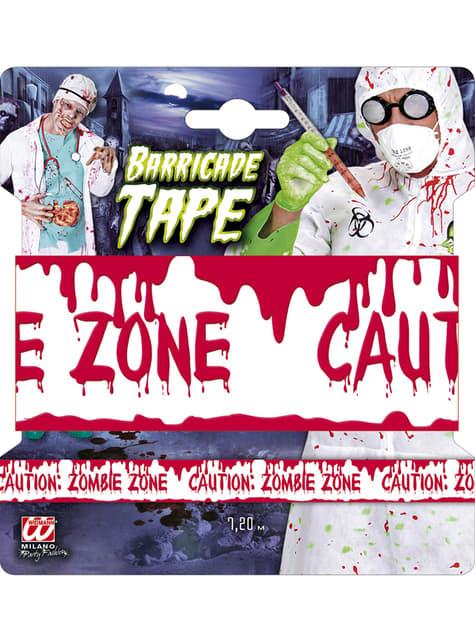 Cinta de zona zombie - para tus fiestas