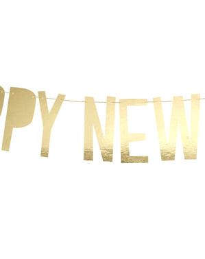 """Happy New Year"" girlande v zlatu - Happy New Year Collection"