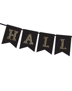 "Гирлянда със знаменца ""Halloween"", черно и златисто– Trick or Treat Collection"