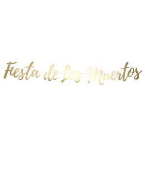 """Fiesta de los muertos"" garland dalam emas - Hari Mati"