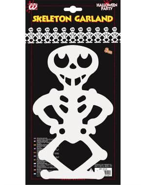 Witte skelet slinger