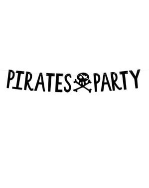 頭蓋骨と「パイレーツパーティー」ガーランド - パイレーツパーティー