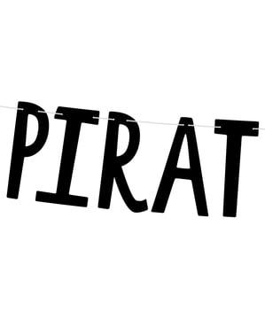"""""""Piratska stranka"""" vijenac s lubanjama - piratska stranka"""
