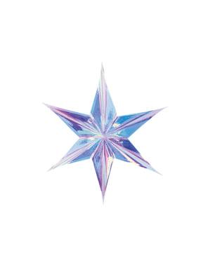Stern Deko zum Aufhängen aus Papier regenbogenfarben 40 cm