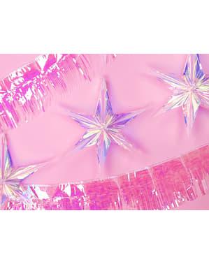Iriserende hengende stjerne laget av papir med mål på 40 cm - Iriserende