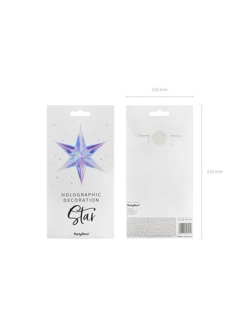 Estrella colgante iridiscente de 40 cm - Iridescent - comprar