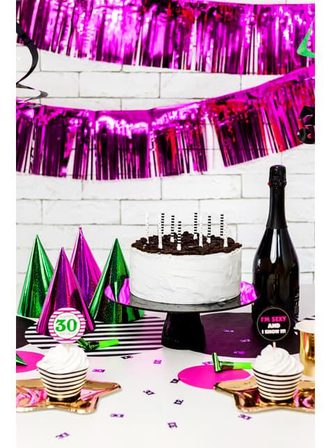 Set de 6 matasuegras holográficos variados - Colorful & holographic birthday