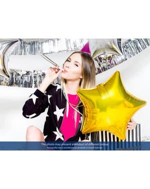 Zestaw 6 srebrne holograficzne trąbki imprezowe - Colorful & Holographic Birthday