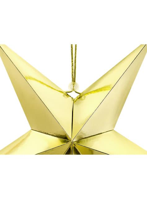 Estrella colgante dorada de 45 cm de papel - para tus fiestas