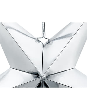 Étoile à suspendre argentée de 70 cm en papier