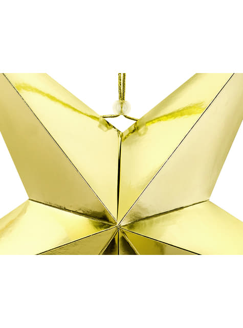 Estrella colgante dorada de 70 cm de papel - para tus fiestas