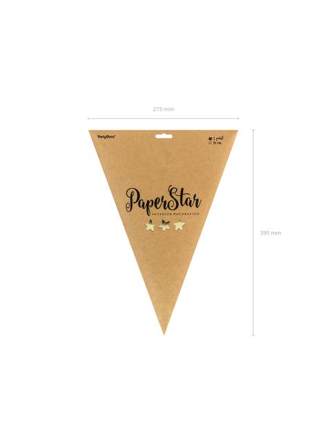 Estrella colgante dorada de 70 cm de papel - original
