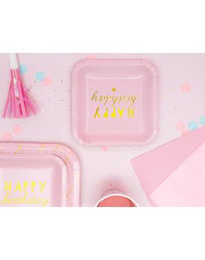 6 pinkkiä juhlapilliä - Unicorn