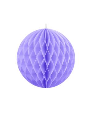 Liliowa dekoracja papierowa kula honeycomb 10cm