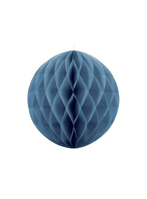 Esfera azul de 20 cm de nido de abeja