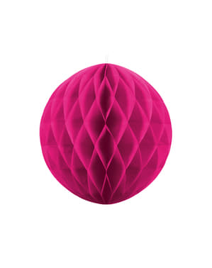Esfera rosa oscuro  de 20 cm de nido de abeja