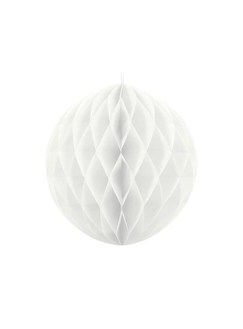 Esfera blanca de 20 cm de nido de abeja