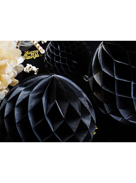 Esfera negra de 20 cm de nido de abeja - comprar