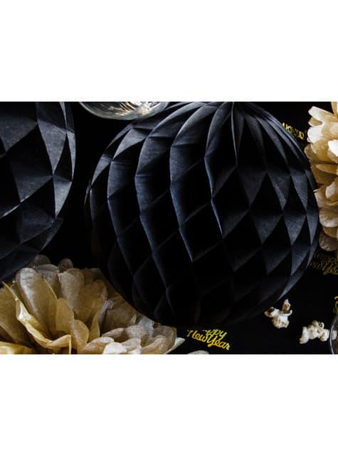 Esfera negra de 20 cm de nido de abeja - para niños y adultos