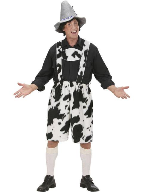 Disfraz Lederhosen de vaca para hombre - original