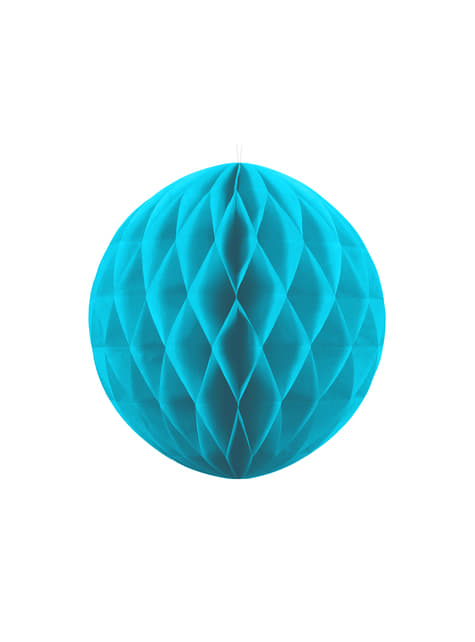 Esfera azul turquesa de 20 cm de nido de abeja