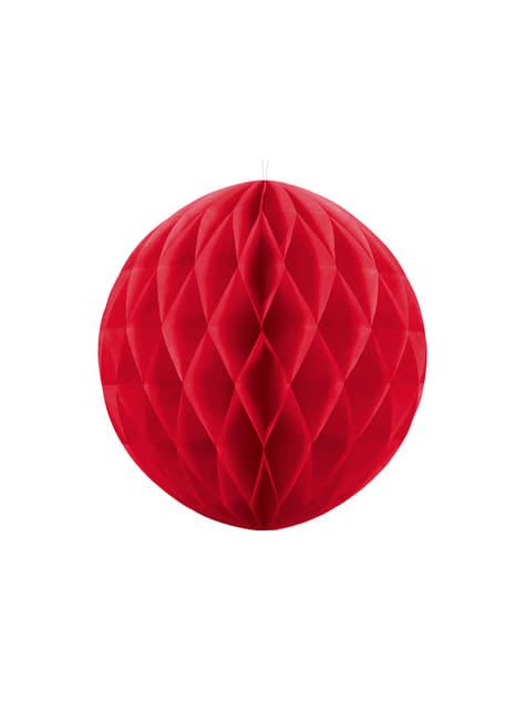 Esfera roja de 40 cm de nido de abeja